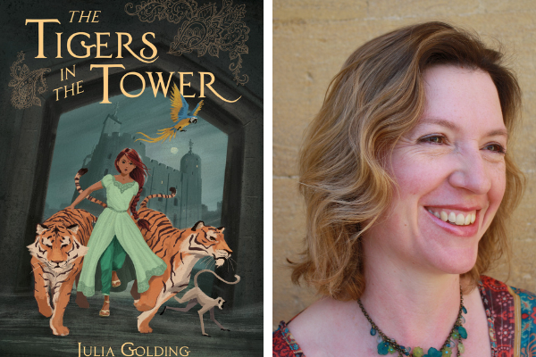 Tigers in the Tower children's book and Julia Golding photo
