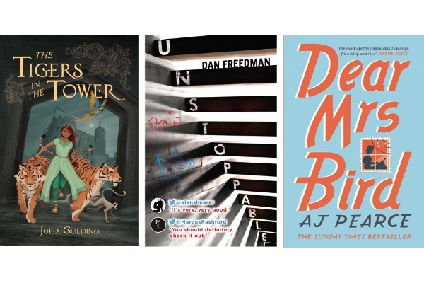 Tigers in the Tower, Unstoppable, Dear Mrs Bird book covers